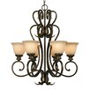 <strong>Heartwood 6 Light Chandelier</strong> by Golden Lighting