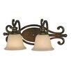 Golden Lighting Heartwood 2 Light Bath Vanity Light