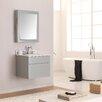 "Avanity Tribeca 25"" Single Wall Mounted Bathroom Vanity Set with Mirror"