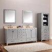 """Avanity Modero 73"""" Double Bathroom Vanity Set with Mirror"""