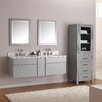 "Avanity Tribeca 61"" Double Wall Mounted Bathroom Vanity Set with Mirror"