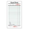 Adams Business Forms 1 Part Guest Check Pad (Set of 6)