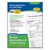 Adams Business Forms Rental/Credit Application Forms and Instructions Pack (Set of 288)