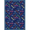 Joy Carpets Educational Crayons Kids Rug