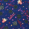 Joy Carpets Gaming and Entertainment Cinema Blue Area Rug