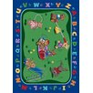 Joy Carpets Educational Teddy Bear Playground Area Rug