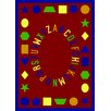 Joy Carpets Educational First Lessons Red Area Rug