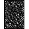 Joy Carpets Whimsy Essentials Bubbles Black Area Rug