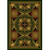 Joy Carpets Gaming and Entertainment People Play Green Jackpot Poker Area Rug
