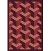 Joy Carpets Whimsy Family Legacies Rooftop Burgundy Rug