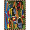 Joy Carpets Educational Essentials Building Character Kids Rug