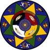 Joy Carpets Educational Essentials Spirit of Truth Circle Area Rug