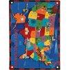 Joy Carpets Educational Read Across America Kids Rug