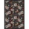 Joy Carpets Gaming and Entertainment Feeling Lucky Gray Area Rug