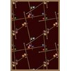 Joy Carpets Gaming and Entertainment Snookered Burgundy Novelty Rug