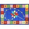 Joy Carpets Educational Alphabet Pinwheel Area Rug