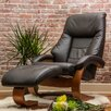<strong>Mac Motion</strong> Oslo 58 Leather Ergonomic  Recliner and Ottoman