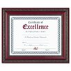 DAX® World Class Document Frame w/Certificate, Walnut, 8 1/2 x 11""