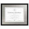 <strong>DAX®</strong> Contemporary Wood Document/Certificate Frame, Silver Metal Mat
