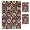 <strong>Primavera Black Geometric 3 Piece Rug Set</strong> by Majestic Rugs