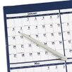 Poster Style Reversible/Erasable Yearly Wall Calendar, 18 x 24, 2013