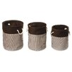 Badger Basket 3 Piece Nesting Round Basket / Hamper Set