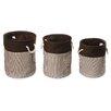 <strong>3 Piece Nesting Round Basket / Hamper Set</strong> by Badger Basket