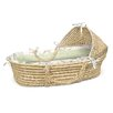 <strong>Hooded Moses Basket with Gingham Bedding</strong> by Badger Basket