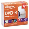 <strong>DVD - R Discs, 10/Pack</strong> by Memorex