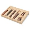 One-Piece Plastic Countex Ii Coin Tray with 6 Compartments, Sand