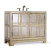 "Cole + Company Designer Series 44"" Victoria Chest Vanity Base with Single Sink"