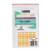 Year 2010 End Tab Folder Labels, 1 x 1/2, Yellow, 250/Pack
