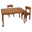 Gift Mark Queen Anne Kids 3 Piece Table and Chair Set