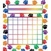 <strong>Teacher Created Resources</strong> Colorful Paw Prints Incentive Chart