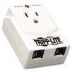 Tripp Lite Direct Plug-In Surge Suppressor, 1 Outlet, Tel/Modem