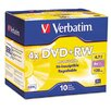 <strong>Verbatim Corporation</strong> Dvd+Rw Discs, 4.7Gb, 4X, 10/Pack