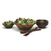 "<strong>Lipper International</strong> 7 Piece Salad Bowl and 12"" Server Set"