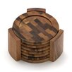 Lipper International Acacia End Grain Coasters (Set of 7)
