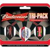 <strong>Anheuser-Busch Darts</strong> Budweiser™ Slim Triple Pack Flights