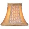 "Livex Lighting 6"" Silk Panel Bell Clip Chandelier Shade"