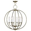 Livex Lighting Milania 6 Light Candle Chandelier