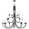 Livex Lighting Cranford 18 Light Candle Chandelier