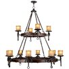 Livex Lighting Cape May 12 Light Candle Chandelier