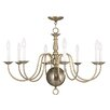 <strong>Williamsburg 6 Light Candle Chandelier</strong> by Livex Lighting
