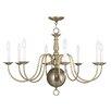 Livex Lighting Williamsburg 6 Light Candle Chandelier