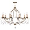 Livex Lighting Chesterfield 10 Light Candle Chandelier