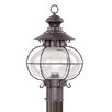 Harbor One Light Outdoor Post Lantern in Bronze