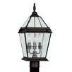 "<strong>Livex Lighting</strong> Fleur De Lis 3 Light 9"" Outdoor Post Lantern"