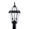 Livex Lighting Fleur De Lis 2 Light Outdoor Post Lantern