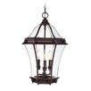 <strong>Livex Lighting</strong> Fleur De Lis  Outdoor Hanging Lantern in Bronze